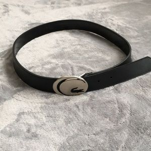 Lacoste black leather alligator belt